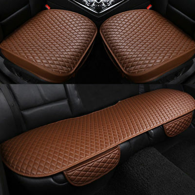 1Set Universal Car Front Back Seat Covers Breathable PU Leather Pad Mat Cushion