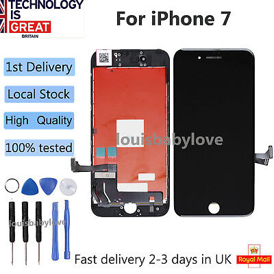 """Screen LCD For iPhone 7 Digitizer Touch Display Assembly Black Replacement 4.7"""""""