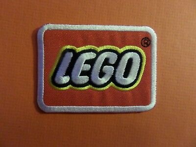 """""""LEGO' red & silver  IRON ON 2-1/8 X 3 PATCH"""