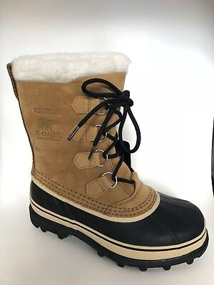 NEW Sorel Men's Caribou Winter Boots -40F Rated Buff WATERPROOF Pick Size