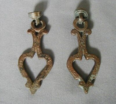 Matched Pair Of Bronze Art Deco Slip Shade Finials