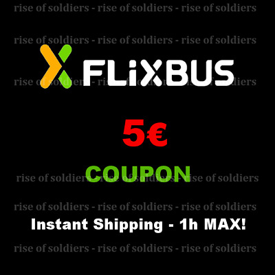 ➤15x5€ Coupon FlixBus - Shipping Max 1h! - Gutschein Bus Discount Voucher