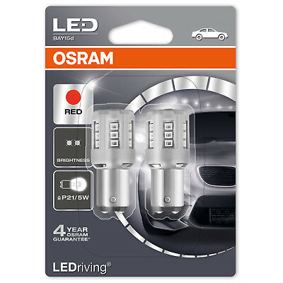 OSRAM LEDriving P21/5W Red Brake Light LED Car Bulbs 1457R-02B (Twin)