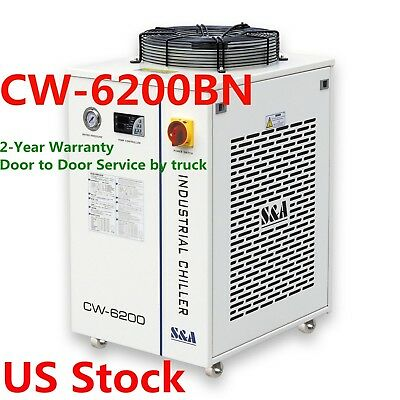 US CW-6200BN Industrial Water Chiller for 200W Laser Diode & CO2 RF Laser 220V