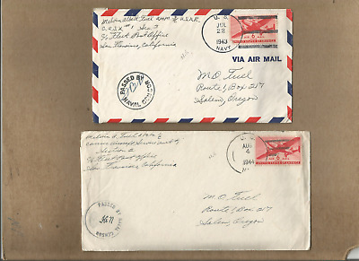 Us Forces-Ww2-New Guinea,very Fine Pair Of A Soldir Covers With Letters To Us.#2