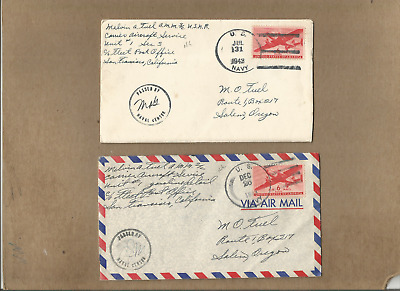 Us Forces-Ww2-New Guinea,very Fine Pair Of A Soldir Covers With Letters To Us.#1