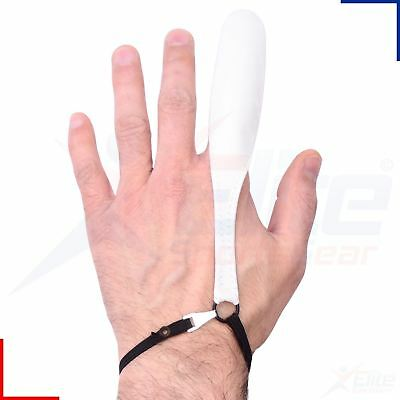 Medisure Re-usable White Leather Finger Stall Elasticated Medical First Aid