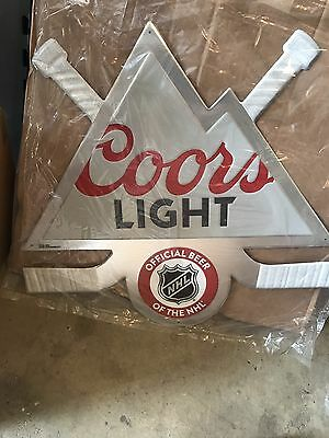 Coors Light Official Sponsor Of The Nhl Metal Sign