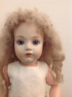 """13"""" Reproduction French Bru Bebe Porcelain Head Doll For You To Dress"""