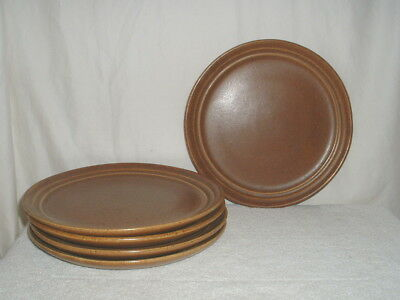5 Vintage Monmouth Mojave Brown Dinner Plates Unused NOS