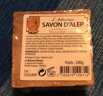 Savon d'Alep-huile d'olive et baie de laurier-200g-made in Syrie