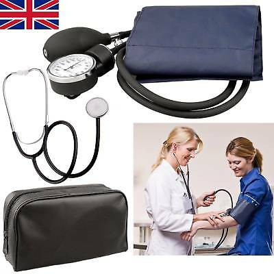 Stethoscope & Sphygmomanometer Cuff Blood Pressure Monitor Manual BP KIT UK