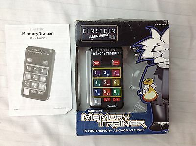 Einstein Brain Games Micro Memory Trainer Handheld Electronic Game Excalibur