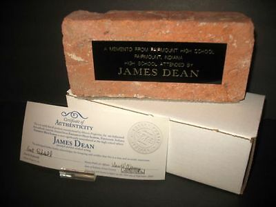 Original JAMES DEAN FAIRMOUNT INDIANA HIGH SCHOOL BRICK Historical Collectible