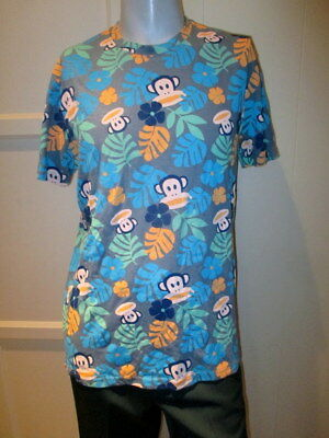 Paul Frank Julius The Monkey Hawaiian Style Floral Leaf Mens Shirt Xl New W/tag
