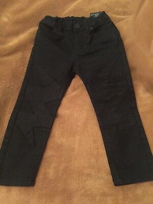 Boys H&M Black Jeans With Flash Shapes To Legs Size 2-3 Years Skinny Fit