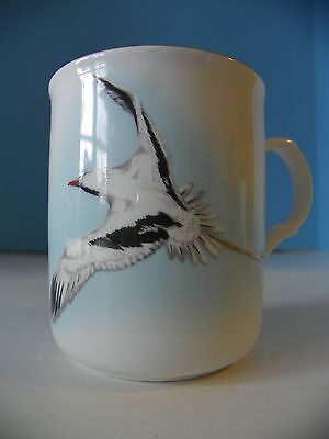 "Crown Trent fine bone china mug/cup ""The Bermuda Longtail"" Staffordshire England"