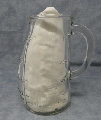 "Vintage Glasco Measuring Cup/Pitcher - USA - bump-belly - 4 Cup - 7"" tall-Unique"
