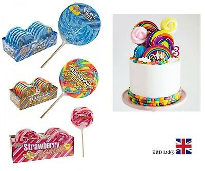 GIANT CANDY LOLLIES Baby Shower Birthday Bag Filler Rock Dummies Lolly Gift UK