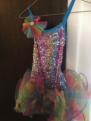 Weissman Size IC rainbow Sequin Dance Costume