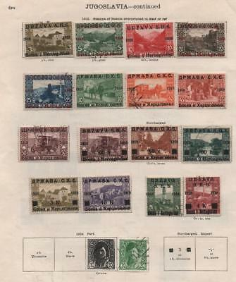 YUGOSLAVIA: 1918-1919 Examples - Ex-Old Time Collection - 2 Sides Page (13384)