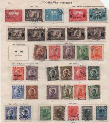 YUGOSLAVIA: 1920-1926 Examples - Ex-Old Time Collection - 2 Sides Page (13383)