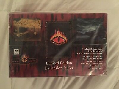 Sealed Limited Edition The Dragons Booster Box Middle Earth Ccg I.c.e.
