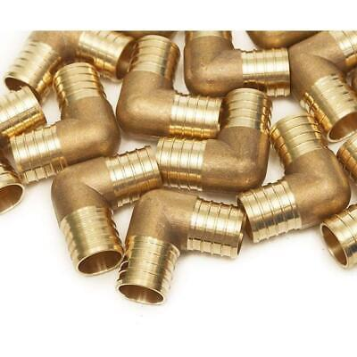 "PEX 3/4"" Inch Barb Elbow 90 - Crimp Fitting, LEAD-FREE Bag of 25 pcs / Brass / 0"