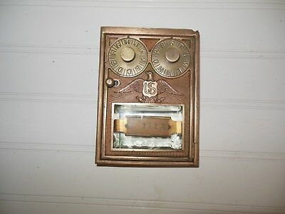 Post Office Box Door Vintage 1900 early Co  Good Condition Corbin  US Eagle