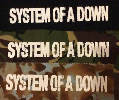 SYSTEM OF A DOWN Logo big back patch  punk metal