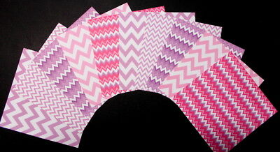 """*PINK/PURPLE* Patterned Papers x 10 - 15cm x 15cm (6"""" X 6"""") Scrapbooking/Cards"""