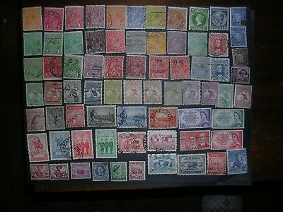 Small lot of various vintage used stamps from Australia - some Kangaroo stamps