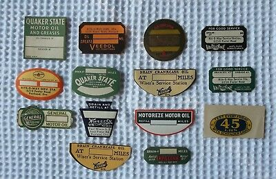 """1 LOT -  RARE VINTAGE OIL CHANGE REMINDER STICKERS - """"LICK & STICK"""" - Not Tags"""