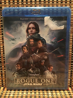 Rogue One: A Star Wars Story (3-Disc Blu-ray/DVD,2017)Disney/Darth Vader.