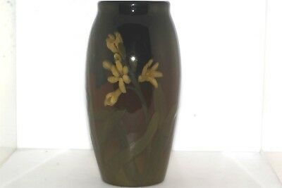 "Antique Rookwood Art Pottery 7"" Vase 917 C Blue Yellow Flowers"