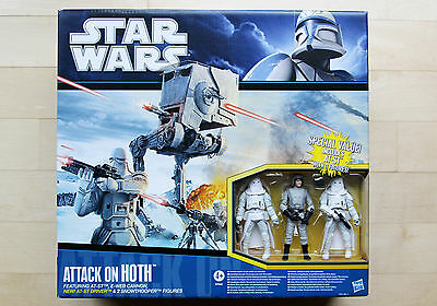 STAR WARS • Attack on Hoth Battlepack • AT-ST, Snowtrooper • Factory Sealed