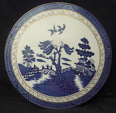 Royal Doulton Booths Olde Willow Blue & White Bread Plate Dresser Display