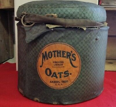 RARE Mothers Oats Fireless Cooker bought with Premium coupons Rare!!! Primitive
