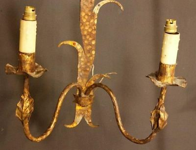 Beautiful Pair of Gilt Wall Sconces - French Style