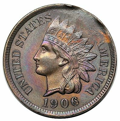 1906 Indian Cent, tapered planchet, UNC detail