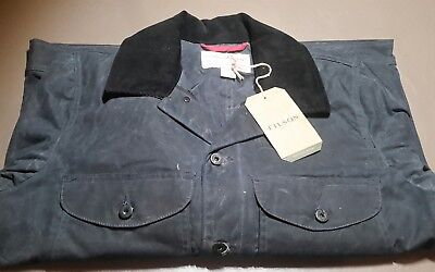 Filson Journeyman Seattle Fit Wax Cotton Jacket blue NWT LG. Made in USA 295