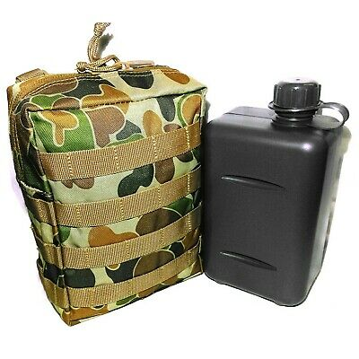 Tas Combo 2 Litre South African Canteen + Auscam Molle Hd Pouch - Aus Mil Spec