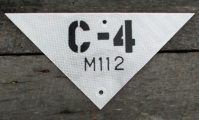 C-4 M112 METAL SIGN PLASTIC EXPLOSIVES ARMY MILITARY ROAD FORT HIGHWAY bomb WAR