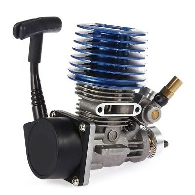 Blue 2.49cc 15 Side Exhaust Hand Pull Start Engine for 1:8 1:10 1:12 RC Car