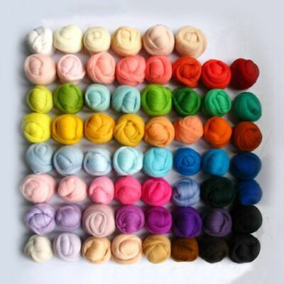 1 Set of 36 Color Trimming Wool Fibre Roving For Needle Felting Hand Spinning
