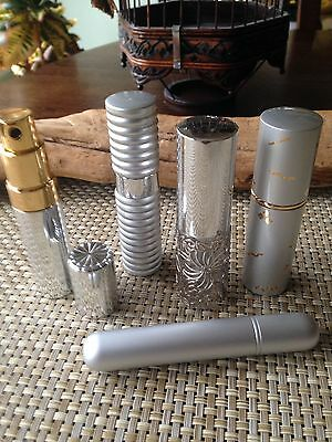 A lot of 5pcs Silver purse atomizer in unique design,new,great gift or Resale