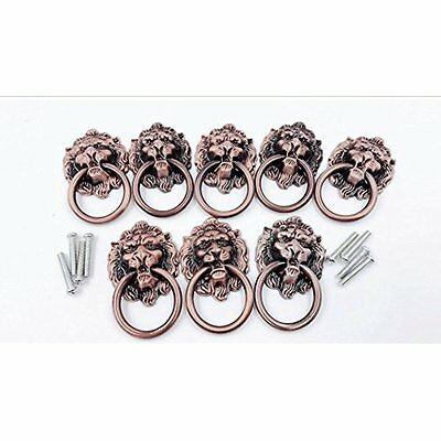 Dresser Drawer Handles & Pulls Cabinet Door Ring Lion Head Knob 8pcs (A)