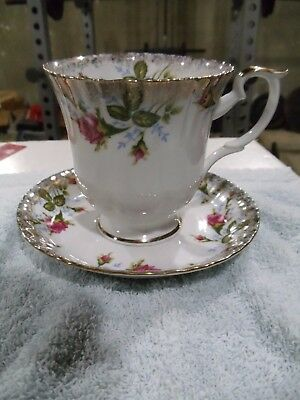 Chodziez Pink Rose And Gold Accents Large Tea Cup And Saucer Made In Poland