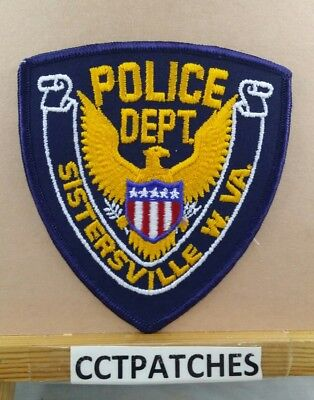 Sistersville, West Virginia Police Stock Eagle Shoulder Patch Wv