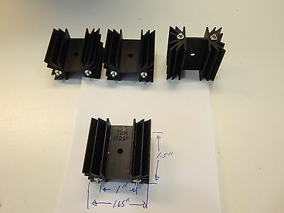 4 Pieces Of Thermalloy 6298B-2-P2 17396 To-220 To-247 Black Aluminum Heatsink